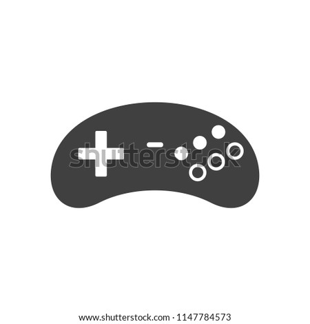 Video Game Joystick Icon Silhouette Black Stock Vector Royalty Free