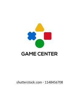 Video game logo design concept. Joystick logo design. Game pad icon