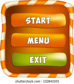 Video game menu