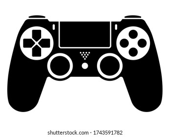 Video game ps4 controller / gamepad flat icons for apps and websites