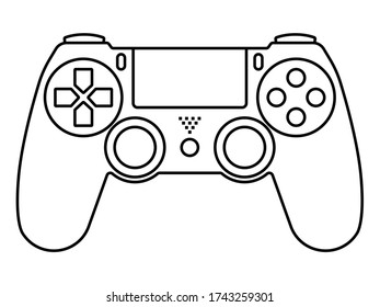 video game ps4 controllers / gamepad -line art icons for apps and websites