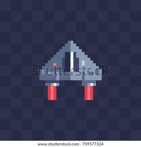 Video Game Spaceship Pixel Art Style Stock Vector Royalty Free - Spaceship design game