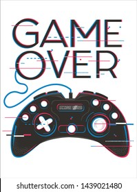 Video game vector design for t shirt