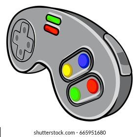 cartoon game controller images stock photos vectors shutterstock rh shutterstock com Video Game Controller Logo Video Game Controller Outline