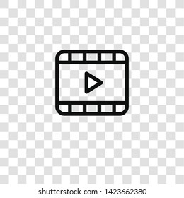 video icon from  collection for mobile concept and web apps icon. Transparent outline, thin line video icon for website design and mobile, app development