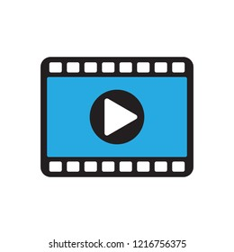 Video icon in flat style vector