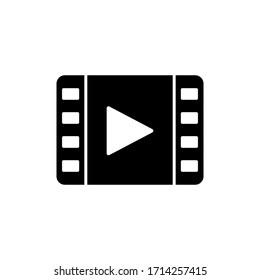 Video Icon Logo Vector Illustration. Video player icon design vector template. Trendy Video vector icon flat design for website, symbol, logo, icon, sign, app, UI.