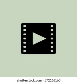 Video icon, movie vector illustration