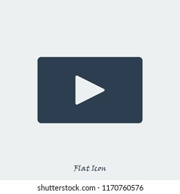 video icon, stock vector illustration flat design style
