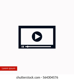 video icon vector, flat design best vector icon