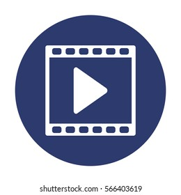 Video Icon Vector flat design style