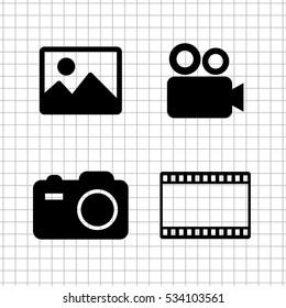 video  icon vector set