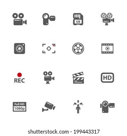 Video icons, vector.