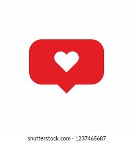 Video like heart icon vector