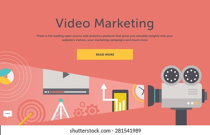 Video marketing. Approaches, methods and measures to promote products and services based on video. For web construction, mobile applications, banners, corporate brochures, book covers, layouts etc
