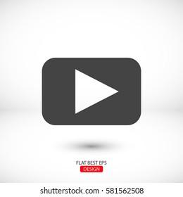 Video play button icon