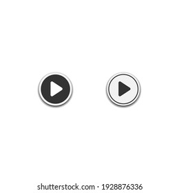 video Play icon for music layout isolated on white background, web template element, mobile app material, UI, UX. vector illustration