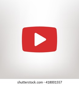 video  play icon. One of set web icons