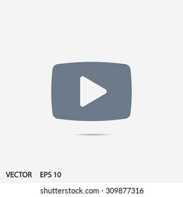 Video play icon vector eps 10