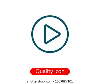 Video play, icon vector illustration EPS10
