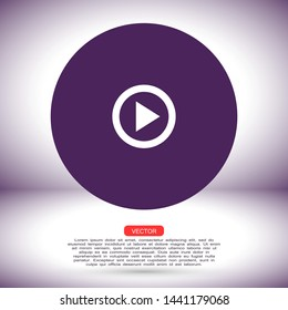 video play vector eps 10 icon , Lorem ipsum flat design