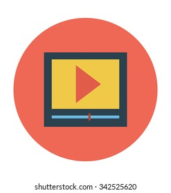 Video Player Colored Vector Icon
