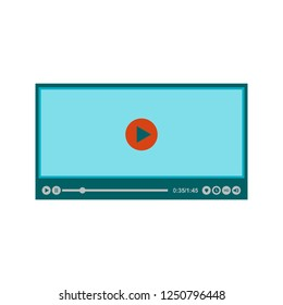 Video player Flat multi color icon