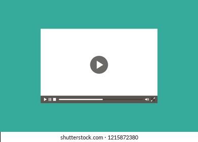 Video-Player im flachen Stil