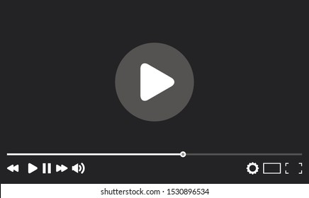 Video player in a flat style for the web vector illustration.