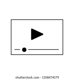 Video Player Interface Line Icon Play Stock Vector (Royalty