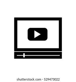 video player icon illustration design