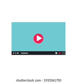 video player interface vector background