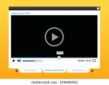 Video Player mock up template
