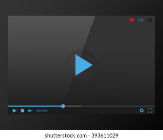 Video Player mockup for web site skin template of and audio vector concept mobile apps