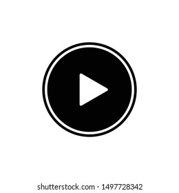 Video Player, start, triangle vector out line vector icon for web and mobile