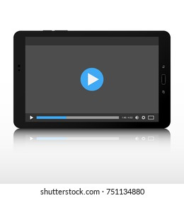 Video player. Video player template interface for smartphone and tablet.