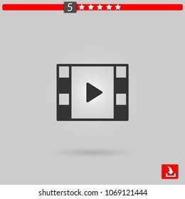 video player vector icon