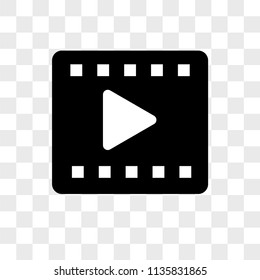 Video player vector icon on transparent background, Video player icon