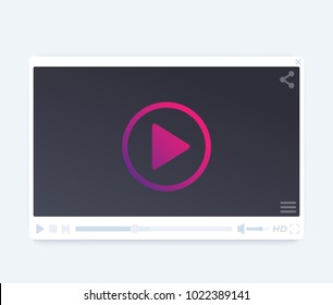 video player vector interface