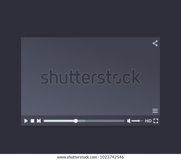 video player vector interface design