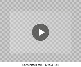 Video player for web and mobile apps flat style. Vector illustration.