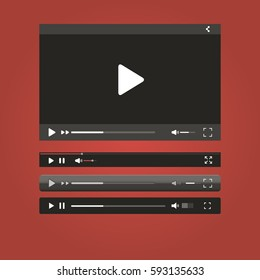 Video Player for your site black with progress bar