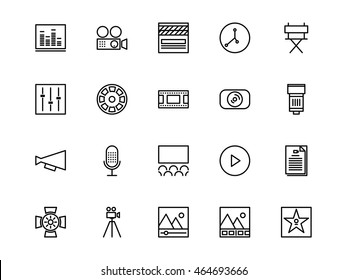 Video Production Icons Line