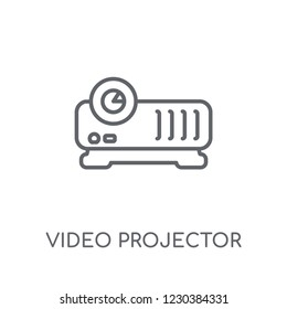 Video projector linear icon. Modern outline Video projector logo concept on white background from hardware collection. Suitable for use on web apps, mobile apps and print media.