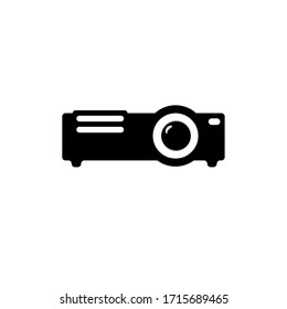 Video projector sign icon in flat style. Cinema presentation device vector illustration on white isolated background. Conference business concept