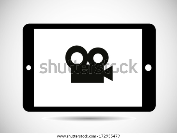Video Record Icon - Tablet