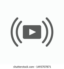 video streaming icon, video stream vector illustration