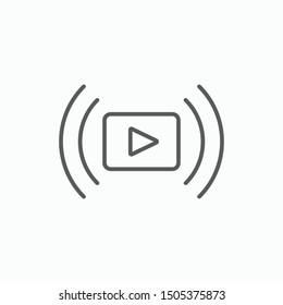 video streaming icon, video stream vector illustration