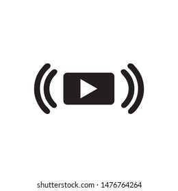 Video streaming vector icon illustration sign