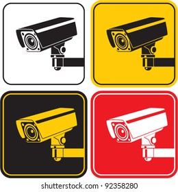 video surveillance camera sign. CCTV